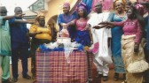 "Ikemba Martins Opara & family at ""igbankwu"" of his spouse"